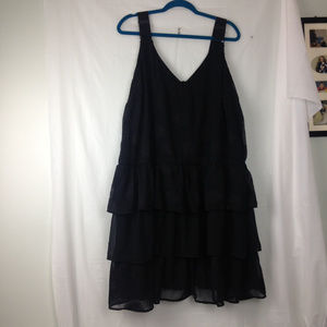 Lane Bryant Sleeveless black polka dot dress